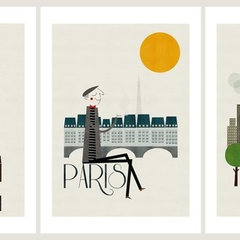 contemporary artwork Cities Set of Three Prints