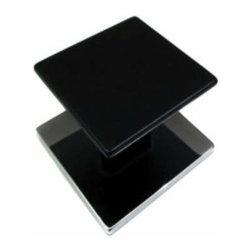 Richelieu Hardware - Richelieu Contemporary Metal Square Knob 16mm Chrome & Black - Richelieu Contemporary Metal Square Knob 16mm Chrome & Black
