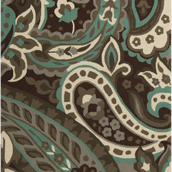 Surya - Surya Rain RAI-1158 (Brown, Green) 3' x 5' Rug - Rain or shine, these rugs look great outdoors! These hand hooked all weather rugs are manufactured to withstand the rigors of outdoor use. You don't need to worry about ruining your rug by spilling a drink or dropping food, just hose off and it's clean! The colors and designs we specially created to add to the outdoor ambiance.