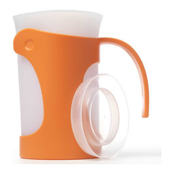 iSi Flex It Pitcher Orange - The iSi Basics Flex It Pitcher features a flexible spout for a no mess pour and a beautifully designed and functional handle that's both ergonomic and functional.  A snug fit lid is  included with this 50 Oz. pitcher.Product Features                         Flexible silicone allows you to make your own spout            Snug fit lid included            50 Oz. silicone liner keeps drinks cooler            Comfortable  easy to pour handle            Removable liner for easy cleaning