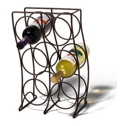 Spectrum Diversified Designs - 6 Bottle Curve Wine Rack, Bronze - Spectrum's Curve 6-Bottle Wine Rack combines a stylish look with space-saving convenience. The clever design keeps wine bottles at the proper angle to help prevent corks from drying. Made of sturdy steel, this wine rack will add a modern touch to your home.