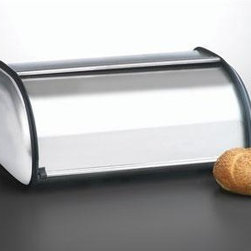 Anchor Hocking - Brushed Steel Bread Box Euro - Anchor Hocking 08994MR Brushed Steel Bread Box is a very attractive Euro design brushed stainless steel bread box used for keeping your bread fresh. Can also be used cookies and crackers.