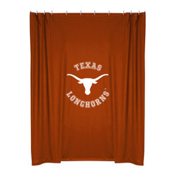 Sports Coverage - NCAA Texas Longhorns College Bathroom Accent Shower Curtain - Features: