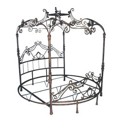 Corsican - Custom Round Martini Bed, King - Corsican has been in business over 40 years. Their entire focus is making wrought iron furniture. Many of their skilled craftsman are second generation.