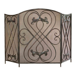 Uttermost - Grace Feyock Effie Fireplace Screen - Designer: Grace Feyock. Made of Iron. 50 in. W x 13 in. D x 34 in. HThis screen features a distressed aged black finish with chestnut brown undertones.