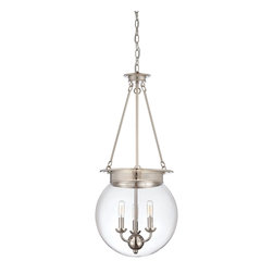 Savoy House Lighting - Savoy House Lighting SVH-7-3301-3-109 Glass Filament Transitional Pendant Light - Salute the bygone days of incandescent illumination with these exceptional  Savoy House glass pendants. The nostalgic bulbs are on full display inside clear glass globes in 1- or 3-light styles. Available in English  Bronze ,  Polished Nickel, and Satin N