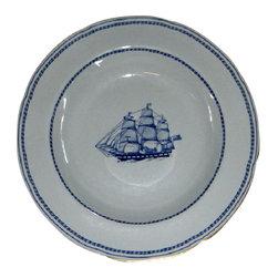 """Spode - Spode Trade Winds  Blue Rim Soup Bowl 8 1/8"""" - Spode Trade Winds  Blue Rim Soup Bowl 8 1/8"""""""