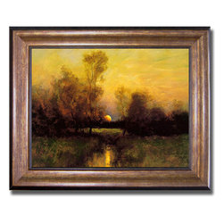 None - Dennis Sheehan 'Summer Moonrise' Framed Canvas - Artist: Dennis Sheehan Title: Summer Moonrise Product Type: Framed Canvas
