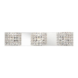 Cesenna Chrome Crystal Vienna Full Spectrum Bath Light -