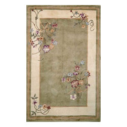 """Kas - European Ruby Hallway Runner 2'3""""x9'6"""" Runner Sage Area Rug - The Ruby area rug Collection offers an affordable assortment of European stylings. Ruby features a blend of natural Sage color. Hand Tufted of 100% Wool the Ruby Collection is an intriguing compliment to any decor."""
