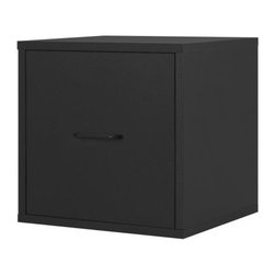 Foremost - Modular File Cube Black - Simple, sophisticated, and functional, this file cube helps keep clutter out of sight. The black finish complements any decor, and the sleek design is modern and fresh. Use individually or combine for customized storage. Unlimited combination options so you can create exactly the system you need.