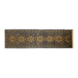 "Manhattan Rugs - New Beautifully Hand Knotted Balouch Rug 2' 8"" X 9' 5"" Navy Wool Runner P799 - Baluch"