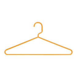 Sorbet Tubular Hangers - Use these orange hangers to make hanging clothes cuter.