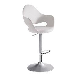 Domitalia - Soft-SG Swivel Stool, White - -Swivel stool