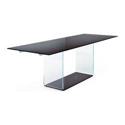 Sovet Italia - Valencia Clear Glass Extension Table | Sovet Italia - Design by Lievore Altherr Molina, 2006.