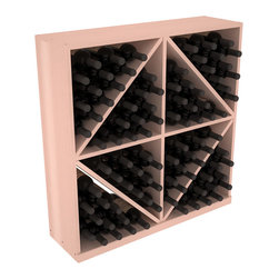 Wine Racks America - Solid Diamond Storage Bin in Redwood, White Wash - This solid wooden wine cube is a perfect alternative to column-style racking kits. Holding 8 cases of wine bottles, you can double your storage capacity with back-to-back units without requiring more access area. This rack is built to last. That is guaranteed.