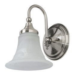 Kinsely Single Bath Light - Add a subtle elegant look to your vanity with this single bath light.