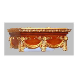 Hickory Manor House - Swag Paper Towel Holder in Gold Oak Finish - Vintage original. Custom made by artisans unfortunately no returns allowed. Enhance your decor with this graceful toilet paper holder. Made in the USA. Made of pecan shell resin. 15 in. L x 8 in. W x 7.5 in. H (8 lbs.)