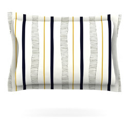 """Kess InHouse - Laurie Baars """"Textured Stripes"""" Abstract Lines Pillow Sham (Cotton, 40"""" x 20"""") - Pairing your already chic duvet cover with playful pillow shams is the perfect way to tie your bedroom together. There are endless possibilities to feed your artistic palette with these imaginative pillow shams. It will looks so elegant you won't want ruin the masterpiece you have created when you go to bed. Not only are these pillow shams nice to look at they are also made from a high quality cotton blend. They are so soft that they will elevate your sleep up to level that is beyond Cloud 9. We always print our goods with the highest quality printing process in order to maintain the integrity of the art that you are adeptly displaying. This means that you won't have to worry about your art fading or your sham loosing it's freshness."""