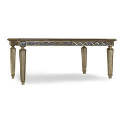 Rectangle Mirrored Dining Room Table