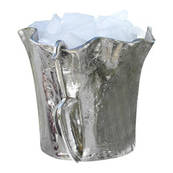 Zodax - Artisan Aluminum Ice Bucket w Scoop - Made from aluminum. Made in India. 12 in. Dia. x 9.75 in. H (6.38 lbs.)