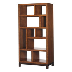 Lexington - Tommy Bahama Home Ocean Club Tradewinds Bookcase Etagere - Ideal as a bookcase for those who love to intersperse treasures, picture frames, or finds, with the ten shelves and open back inviting personalization. Also perfect as room divider, thus creating intimate nooks without barriers.