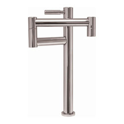 Whitehaus - Decohaus Deck Mount Pot Filler Kitchen Faucet - Color: Brushed NickelLever handle. Single swing arm. For cold water only. Can be used with a cold water filter. 10.75 in. W x 10 in. H (5 lbs.). Warranty