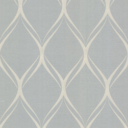 Brewster Home Fashions - Gustav Grey Geometric Wallpaper Bolt - Embrace a modern glamour in your decor with this sophisticated silver wallpaper. A luxe metallic finish adds a regal allure to the contemporary geometric pattern.