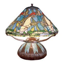 "Meyda Lighting - Meyda Lighting 50353 16""H Tiffany Koi Mosaic Base Table Lamp - Meyda Lighting 50353 16""H Tiffany Koi Mosaic Base Table Lamp"