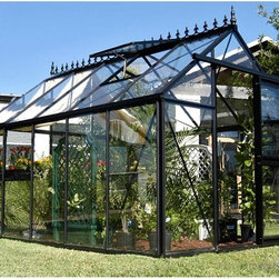 Janssens - Janssens Junior Victorian 7.75 x 12.5-Foot Greenhouse - J-VIC24 - Shop for Greenhouses from Hayneedle.com! Additional Features5-feet high shoulders with large gutters4-inch high foundation frame is includedDurable rubber seals hold the glass panels in placeDoor measures 28W x 75H x inchesSidewall height measures 5.16 feetPeak height measures 8.5 feetMeasures 7.75W x 12.5L x 8.5H feetEnjoy gardening year-round with the Junior Victorian 7.75 x 12.5 Greenhouse. Beautiful and energy-efficient the Junior Victorian Greenhouse is made with strong and durable aluminum profiles and 4mm tempered glass panels. That's about 1mm thicker than most competitors. The greenhouse is constructed with single piece glass panels for better insulation and to help keep your greenhouse clean while durable rubber seals hold the glass panels in place. Most competitors use square overlapping panels that get dirty over time. The sliding door can be place on any of the vertical glass locations for your convenience. A 4-inch high foundation frame is included along with 5-feet high shoulders with large gutters. The Junior Victorian Greenhouse gives you the ability to have fresh produce and plants at any time of the year. Assembly is a weekend project for one or two people.About JanssensKnown as the incredibly sensible greenhouse company Janssens has been associated with quality greenhouses and orangeries and continuously gains knowledge and experience with these products. If you're looking for a greenhouse they're confident they have what you want. Janssens bases their business on their ability to listen and adapt to individual customer requirements from the get go. Their experience knowledge and flexible approach together with a high level of openness and integrity have resulted in an enviable level of customer recommendation. As they continue to progress they retain their old fashioned virtues of customer service and satisfaction.