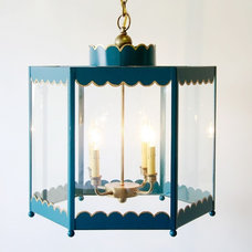 Eclectic Outdoor Flush-mount Ceiling Lighting Scalloped Lantern