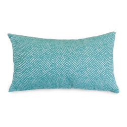 Majestic Home Goods - Teal Navajo Small Pillow - Add a splash of color and a little texture to any environment with these great indoor/outdoor plush pillows by Majestic Home Goods. The Majestic Home Goods Navajo pillow will add additional comfort to your living room sofa or your outdoor patio. Whether you are using them as decor throw pillows or simply for support, Majestic Home Goods pillows are the perfect addition to your home. These throw pillows are woven from outdoor treated polyester with up to 1000 hours of U.V. protection, and filled with Super Loft recycled polyester fiber fill for a comfortable but durable look. Spot clean only.