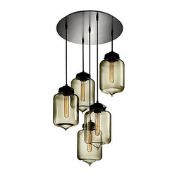 Circular-5 Multi-Pendant Modern Chandelier - It can be hard to commit to only one fixture by Niche Modern. With this customizable canopy, you can create a modern chandelier that is 100% to your preferences.