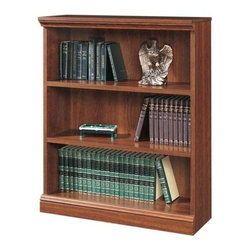 Sauder - Camden County 3 Shelf Bookshelf in Planked Ch - 3 Shelves (2 adjustable). Sturdy 1 in. thick shelves and uprights. Made of engineered wood. Assembly required. 36 in. W x 14 in. D x 44 in. H
