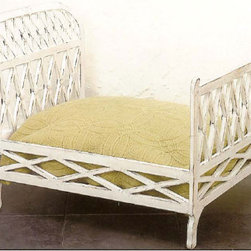 Antique White Iron Dog Bed - Now why didn't I think of putting something like this bed that actually looks good in my bedroom. I love that a pet bed doesn't have to be an eyesore.