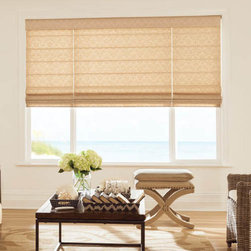 Bali - Bali Casual Classics Roman Shades: Damask Ravish & Portico - The Damask collection is a timeless design in contemporary colors.  Casual Classics Roman shades offer the softness of a drapery with the practicality of a shade.