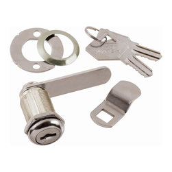 First Watch Security - Cabinet & Drawer 1-1/8 in. Utility Cam Lock in Chrome (Set of 10) (Keyed Individ - Choose Key Type: Keyed Individually. Keyed locking for maximum security. Requires 3/4 in. mounting hole. For wood or metal door or drawer. 2 washers for 90 or 180 degree rotation. Max drawer thickness 3/4 in.. Chrome Finish