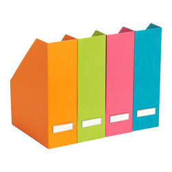 Bright Stockholm Magazine File - With all of your reading materials tucked inside, these colorful magazine files will have your shelves looking neat and streamlined.