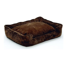 Jax & Bones - Jax & Bones Corduroy Lounge Bed Chocolate Small - With removable inserts and zippers, these corduroy lounge beds are easy to maintain and care for. They are amazingly comfortable and cozy, making them ideal for your pet to rest in. these beds are perfect for those pets which need some warmth and reassurance in their lives. The beautiful colors offered in these beds will not fade after washing and are extremely durable.   100% Machine Washable and Certified Eco-Friendly!