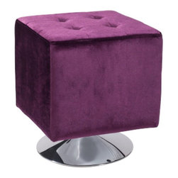 Armen Living - Armen Living Pica Square Ottoman - LCF15OTBL - Shop for Ottoman & Footstools from Hayneedle.com! Available in a variety of vibrant colors the Armen Living Pica Square Ottoman is so cute and quirky you'll need one for every member of the family. These adorable 17-inch cubes are the perfect size for a footrest or additional tuffet-style seating. The rich velvet is button-tufted on top for classic style and practical durability. A gleaming chrome base adds a distinctive retro flair to these clever boxes which are sure to be a huge hit on movie night with the kids ... or fun-loving adults.About Armen LivingImagine furniture without limits - youthful robust refined exuding self-expression at every angle. These are the tenets Armen Living's designers abide by when creating their modern furniture collections. Building on more than 30 years of industry experience Armen Living combines functional versatility and expert craftsmanship into their dramatic furniture styles all offered at price points fit for discriminating budgets. Product categories include bar stools club chairs dining tables ottomans sofas and more. Armen Living is based in Sun Valley Calif.