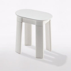 Gedy - White Oval Floor Standing Bathroom Stool - Keep your master bath looking contemporary with this luxurious floor standing bathroom stool from the Gedy Tetra collection. This floor standing bathroom stool is made in high-end thermoplastic resins and available in white. Perfect for contemporary-style