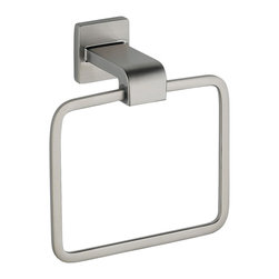 Delta Towel Ring - 77546-SS - Inspired by geometric designs found in mid-century modern furniture, Arzo makes a bold statement in understated fashion.