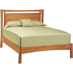 Copeland Furniture - Copeland Furniture Monterey Natural Cherry Bed - Warm and elevated, the arts-and-crafts Monterey Natural Cherry Bed is made from sustainably harvested solid cherry hardwood that defines it as a stunning statement piece. It features a wide cut-out headboard, and was crafted in Copeland Furniture's Vermont headquarters. The natural cherry finish emphasizes the original hardwood, making it easy to pair with current decor or act as the spark for a whole new bedroom.Four sizes available: Full, Queen, King, and California KingNatural cherry finishMade of solid cherry hardwoodMattress-only designOne cut-out headboardMonterey Bedroom collectionMade to order in the USAThis special-order item is just that: made especially for you. We unfortunately cannot accept returns on custom merchandise