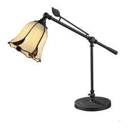 Dale Tiffany - Dale Tiffany TT12432 San Antonio 1 Light Desk Lamp - Features:
