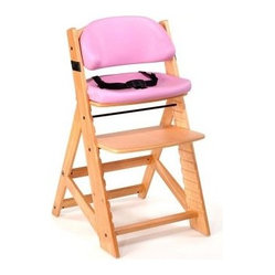 Keekaroo Height Right Kids Chair Natural with Lilac Comfort Cushions