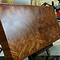 The Kathy - The Kathy is one of our top sellers. This END GRAIN board is not only guaranteed to be a conversation starter in your kitchen, but also provide you with years of trouble free service and stunning reliability.