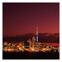 Custom Photo Factory - New Zealand, Auckland, Illuminated Cityscape at Night Canvas Wall Art - New Zealand, Auckland, Illuminated Cityscape at Night  Size: 20 Inches x 30 Inches . Ready to Hang on 1.5 Inch Thick Wooden Frame. 30 Day Money Back Guarantee. Made in America-Los Angeles, CA. High Quality, Archival Museum Grade Canvas. Will last 150 Plus Years Without Fading. High quality canvas art print using archival inks and museum grade canvas. Archival quality canvas print will last over 150 years without fading. Canvas reproduction comes in different sizes. Gallery-wrapped style: the entire print is wrapped around 1.5 inch thick wooden frame. We use the highest quality pine wood available. By purchasing this canvas art photo, you agree it's for personal use only and it's not for republication, re-transmission, reproduction or other use.