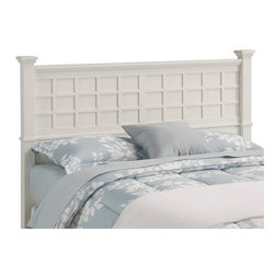 Home Styles - Home Styles Arts and Crafts Queen Headboard in White Finish - Home Styles - Headboards - 5182501 - Mission Styling at its best! The Arts and Crafts Queen Poster Headboard embellishes typical mission styling with raised wood, lattice moldings and slightly flared legs. Finished in a White finish over hardwood solids and hardwood veneers, this bed�s simplistic yet detailed design makes it an ideal piece for any bedroom setting.