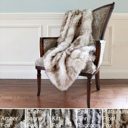 None - Wild Mannered Luxury Long Hair Faux Fur 54x36 Lap Throw - Use furry throws throughout the year to accent your furnishings. These throws showcase long hair faux fur displays and their overall design allows for complementing similar decor. These terrific throws can be used to keep you warm or for decor accents.