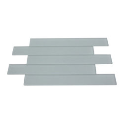 "GlassTileStore - Loft Horizon Sea Foam Green Frosted 2x16 Glass Tile - Loft Horizon Sea Foam Green Frosted 2x16 Glass Tile             Make your back splash the kitchens, bathroom or decorated room focal point by using the striking 2x16 tile. Add some color and style to your decor! This should give it a more distinct look. These glass tiles will add a durable lasting beauty and value to your bathroom, kitchen, fireplace, or pool installation. The color is painted on the back of the tile so it will not scratch or chip off. You can also use this as a finishing or border of your project.         Chip Size: 2""x16""   Color: Seafoam Green   Material: Glass   Finish: Frosted   Sold by the Unit - 1 Unit=1.1 Sq. ft. (5 pieces)   Thickness: 8mm            - Glass Tile -"